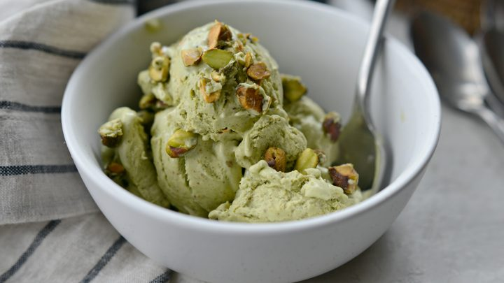 No Churn Pistachio Ice Cream Simply Scratch