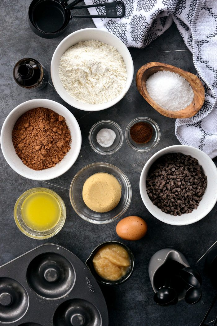 top down photo of doughnut ingredients