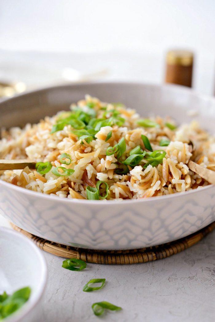 Rice Pilaf l SimplyScratch.com #sidedish #rice #pasta #easy #pilaf