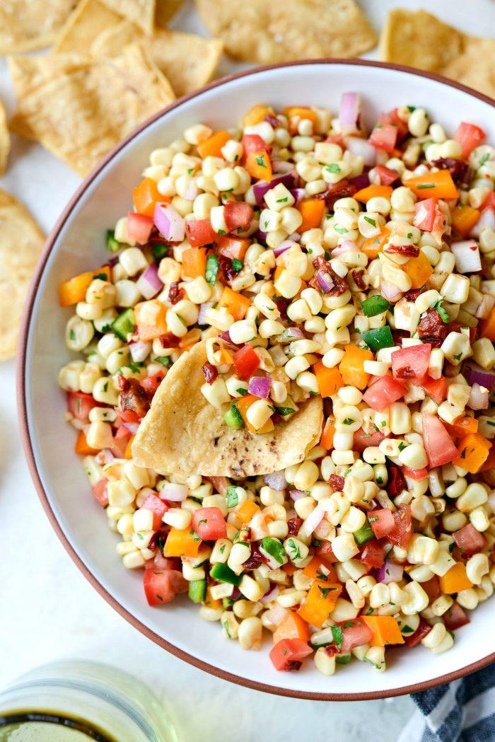 Smoky Chipotle Corn Salsa l SimplyScratch.com #chipotle #corn #salsa #appetizer #snack