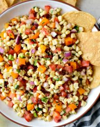 Smoky Chipotle Corn Salsa l SimplyScratch.com #chipotle #corn #salsa #appetizer #snack