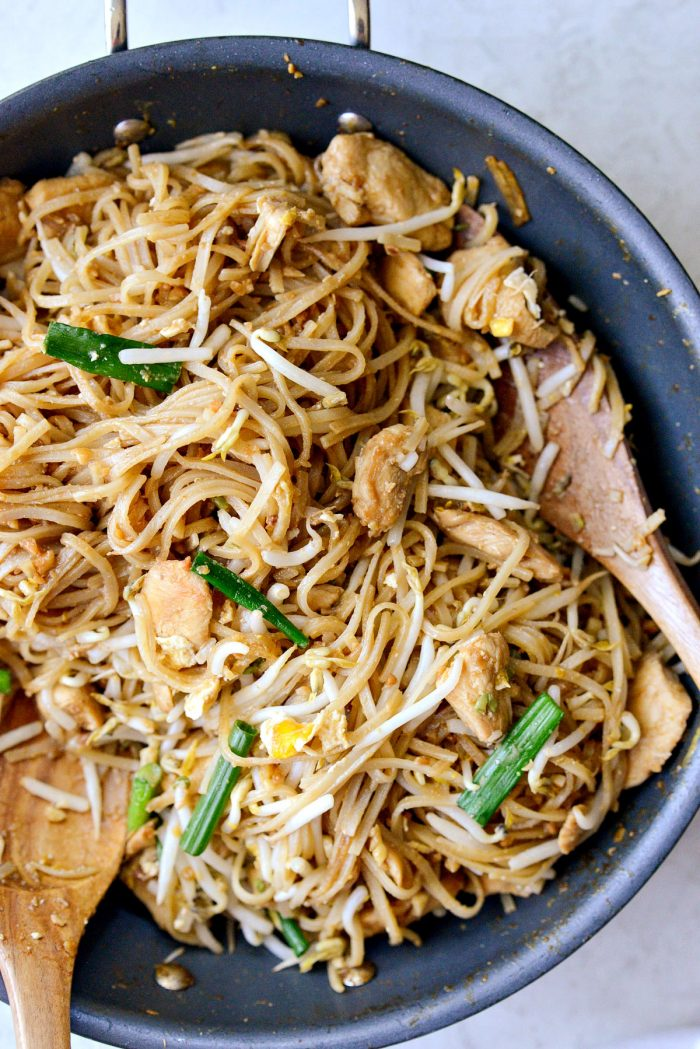 Easy Chicken Pad Thai l SimplyScratch.com #homemade #padthai #chicken #noodles #stirfry #easy #dinner #recipe