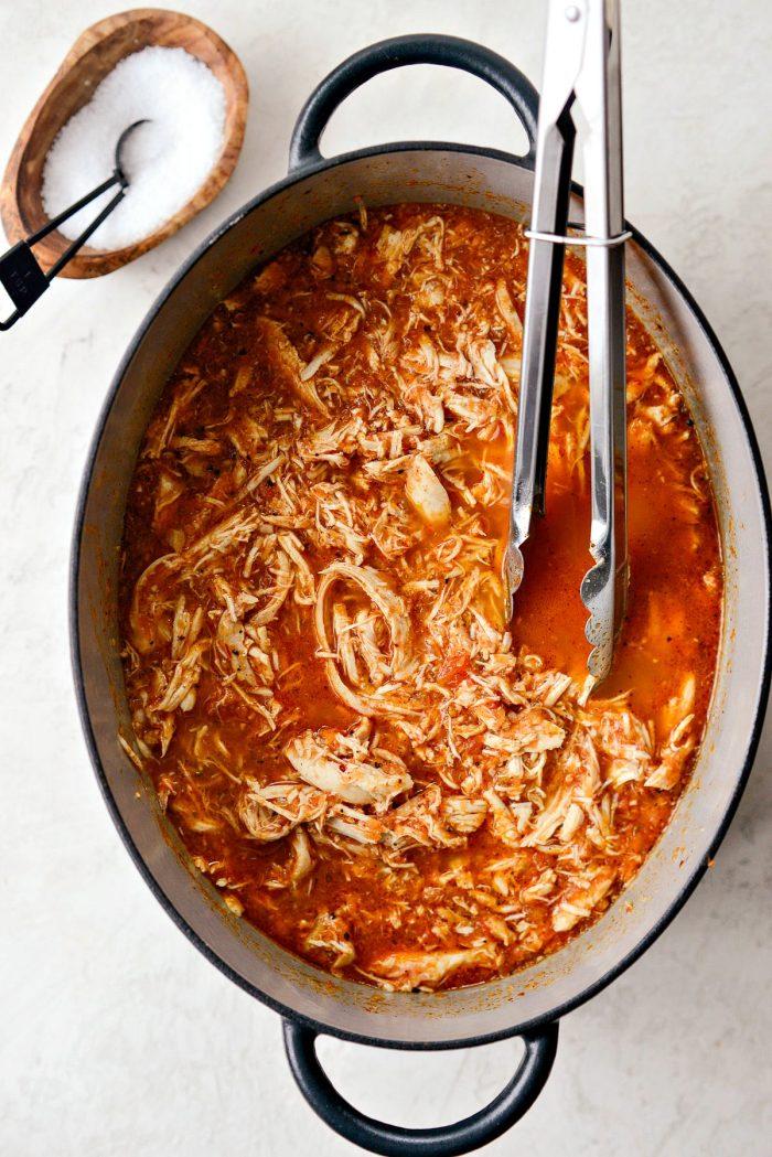 Jacuzzi Chicken l SimplyScratch.com #texmex #chicken #beer #jalapeno #homemade #salsa #braised #shreddedchicken