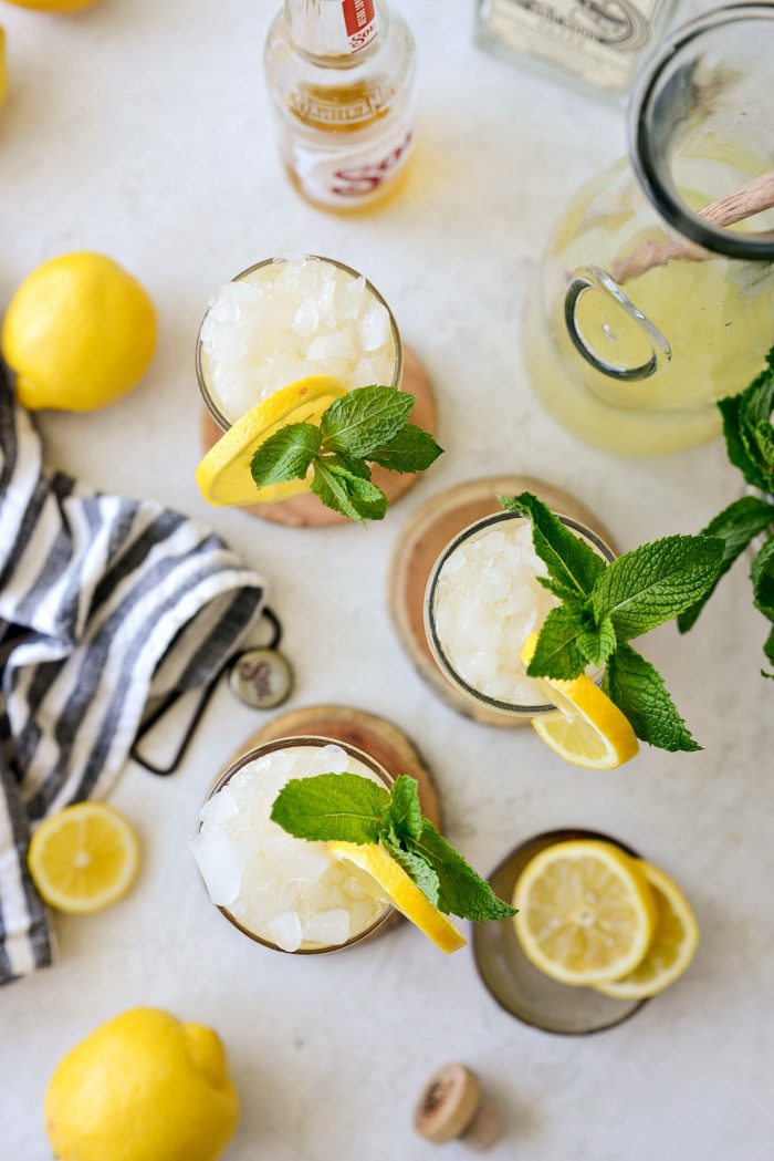 top down of three lemon shandy refreshers