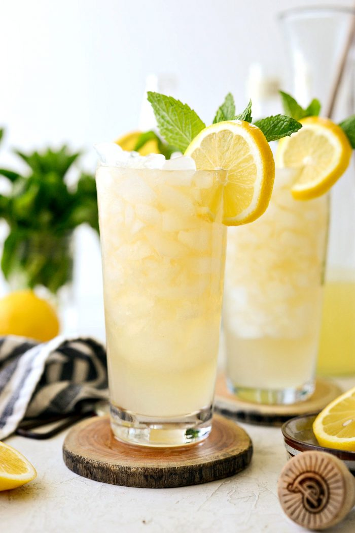 crushed ice with lemon shandy refresher