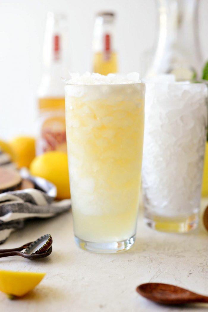 glass of lemon shandy refresher