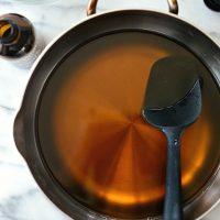 heat and stir until dissolved.