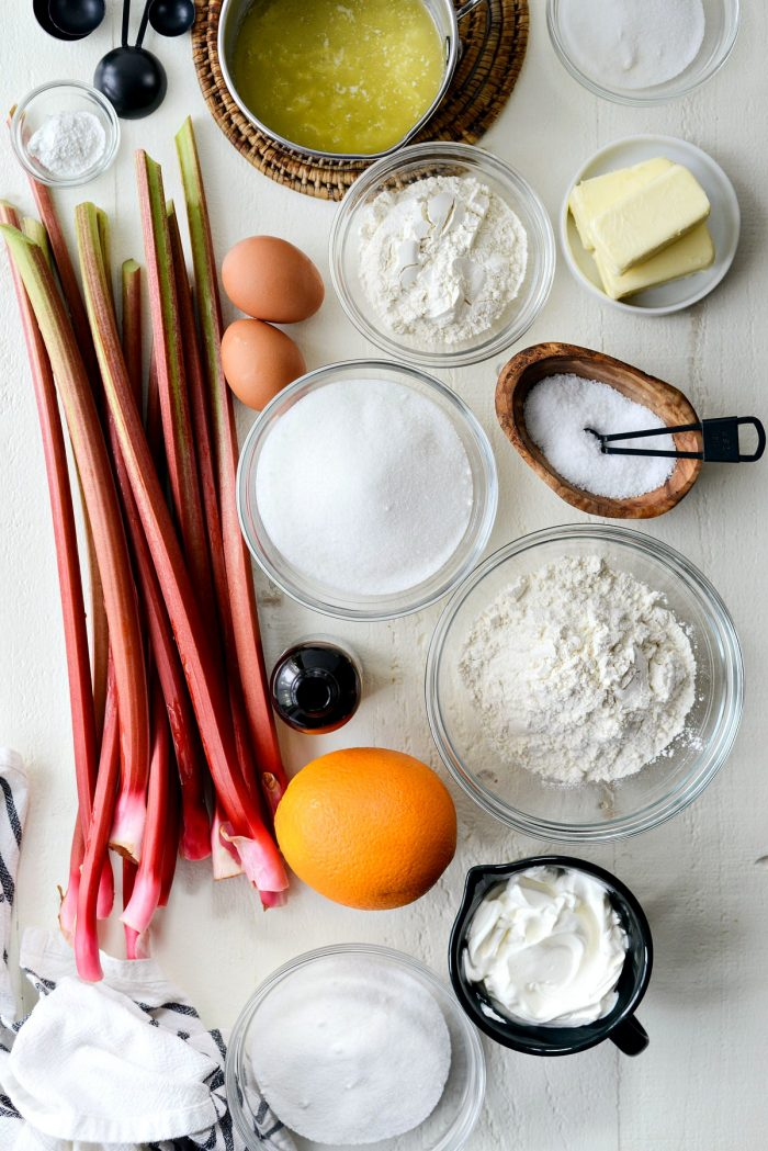 ingredients on white background