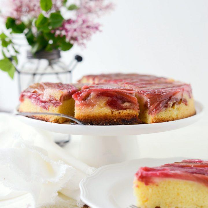 Martha's Rhubarb Upside-Down Cake