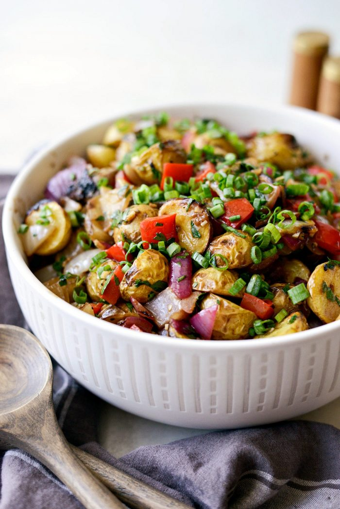 Tuck's potato salad with a sprinkle of green onion.