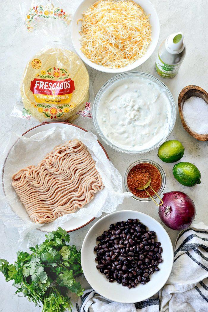 air fryer chipotle chicken black bean taco ingredients