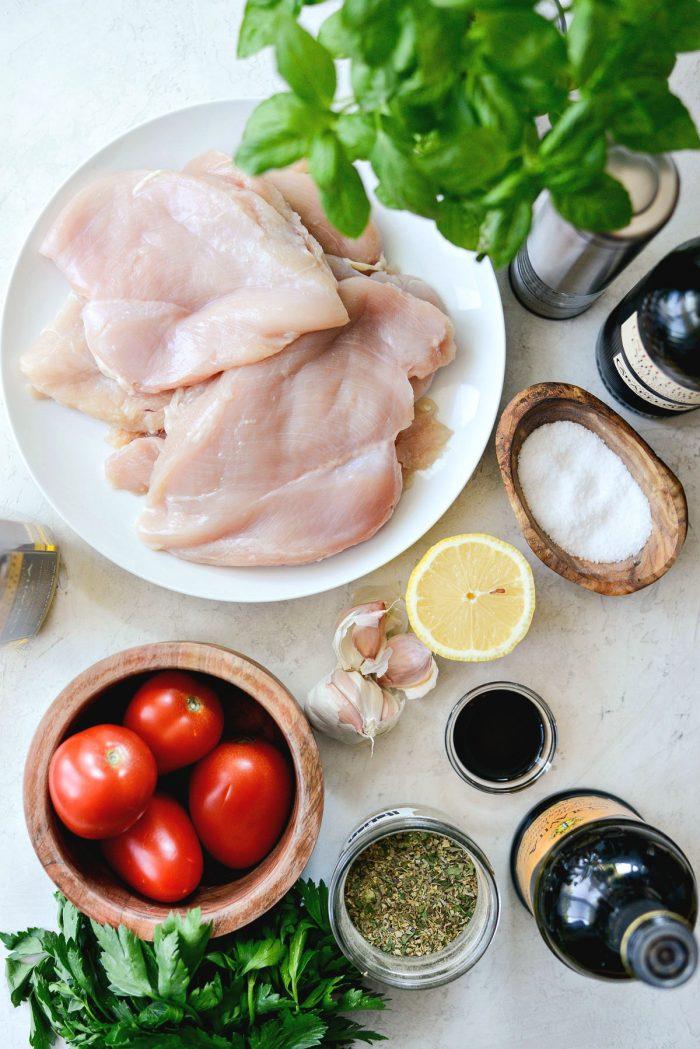 Grilled Chicken Bruschetta ingredients