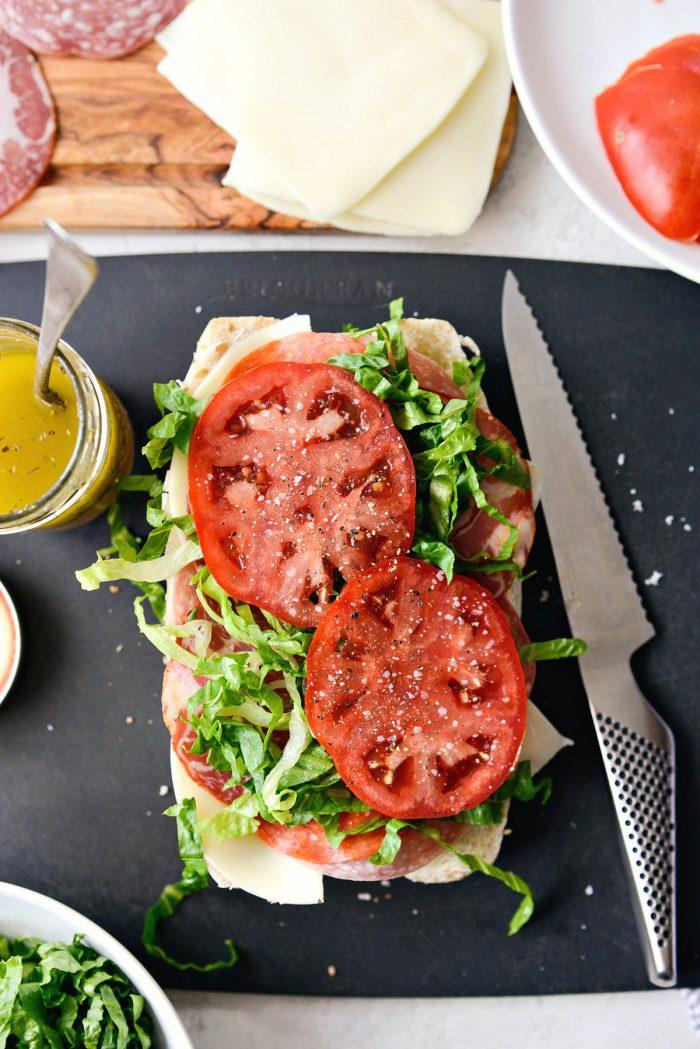 lettuce, tomato and s & p