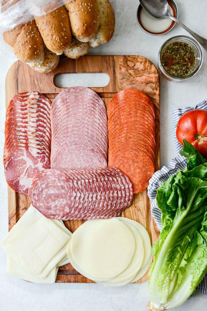 italian sub sandwich ingredients