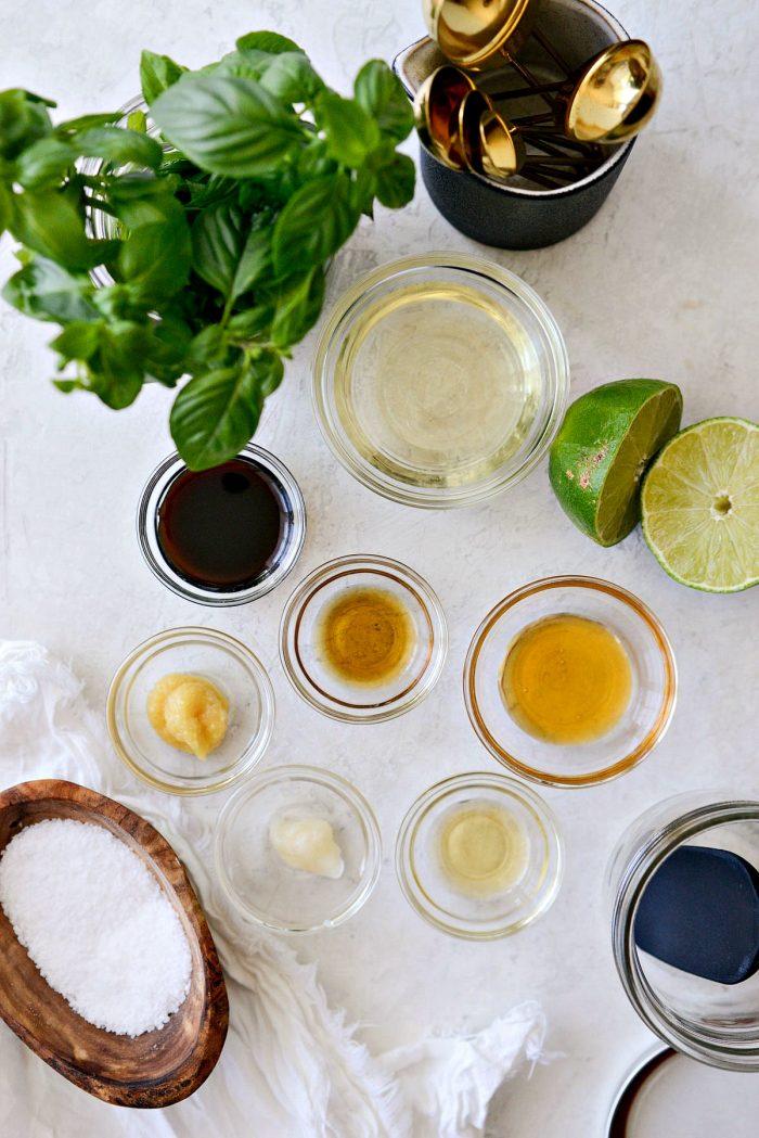 Basil Ginger dressing ingredients