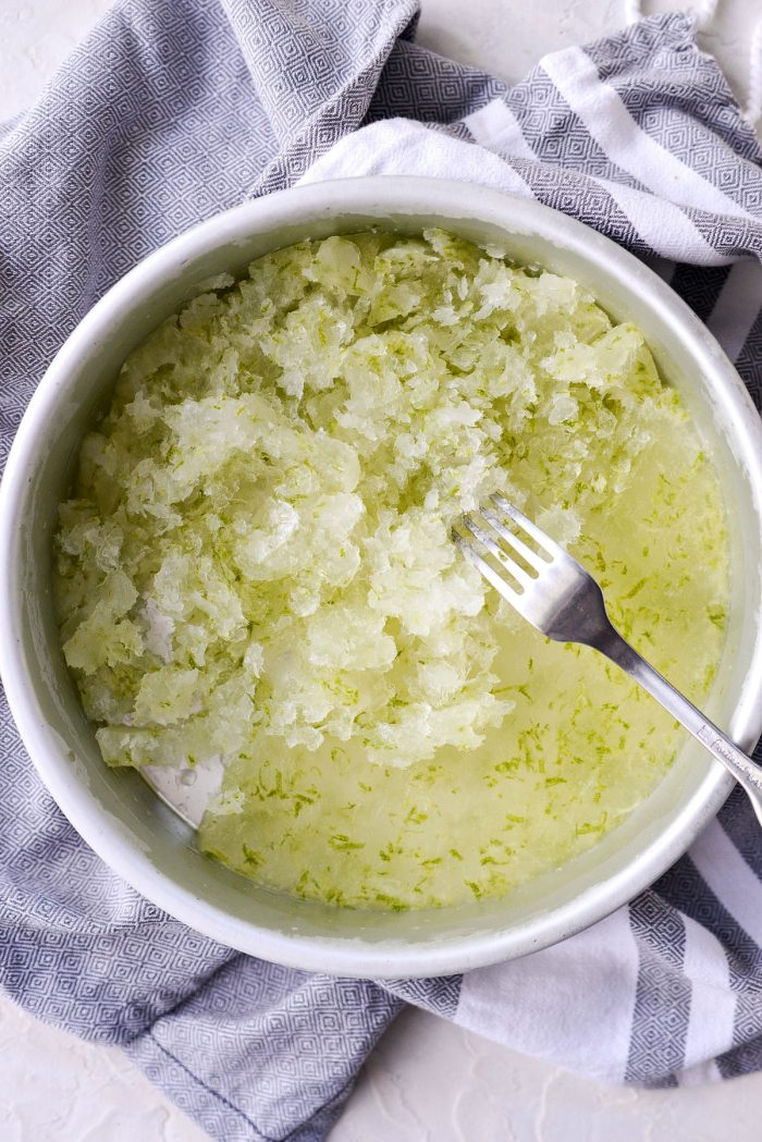 use a fork to scrape up the icy granita