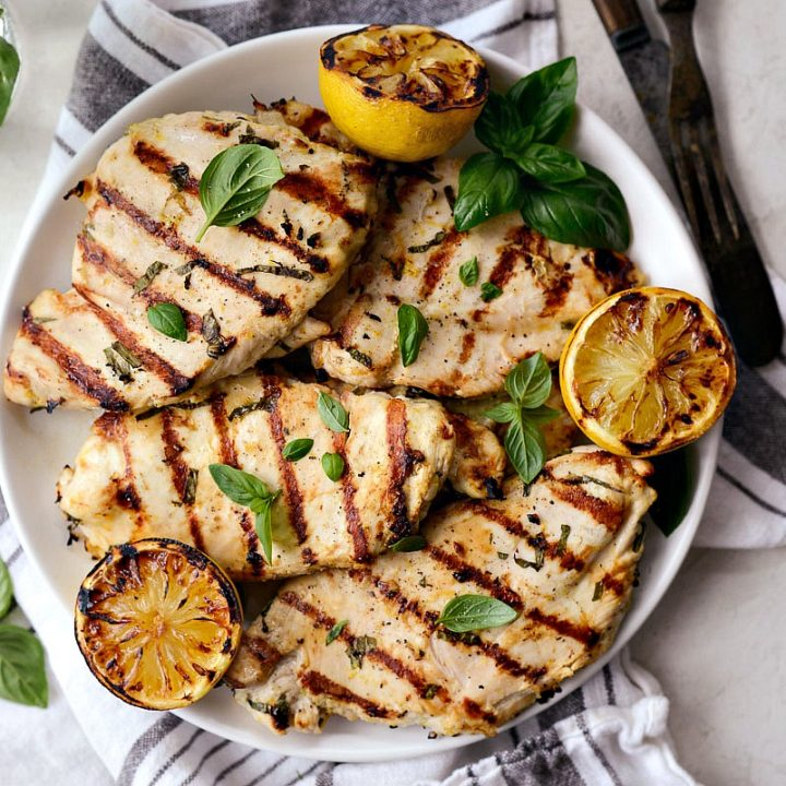 Grilled Lemon Basil Chicken Simply Scratch