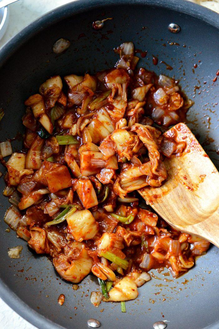 heat the kimchi through