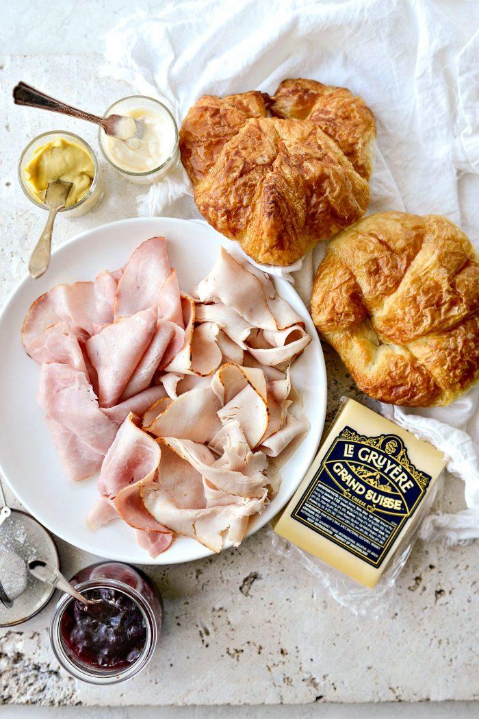 monte christo croissant panini ingredients