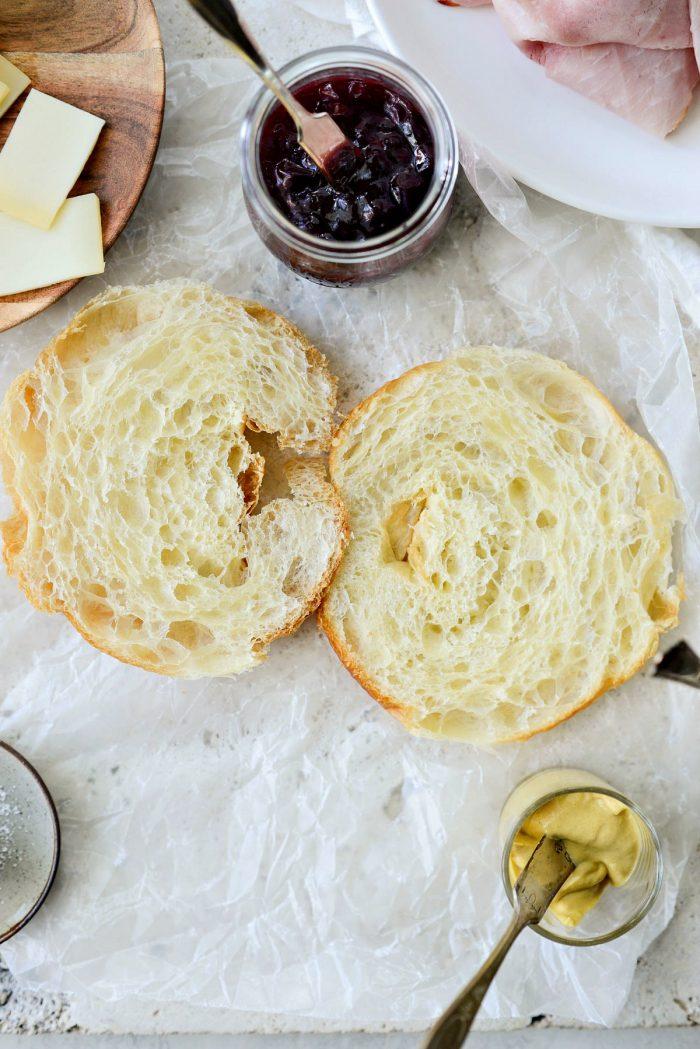 croissant sliced in half