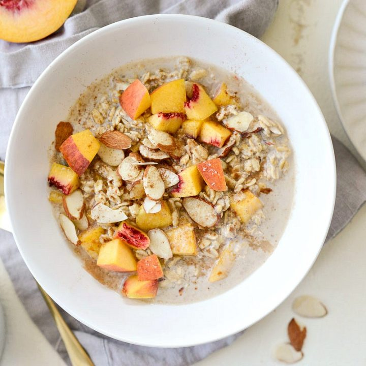 Vanilla Peach Overnight Oats