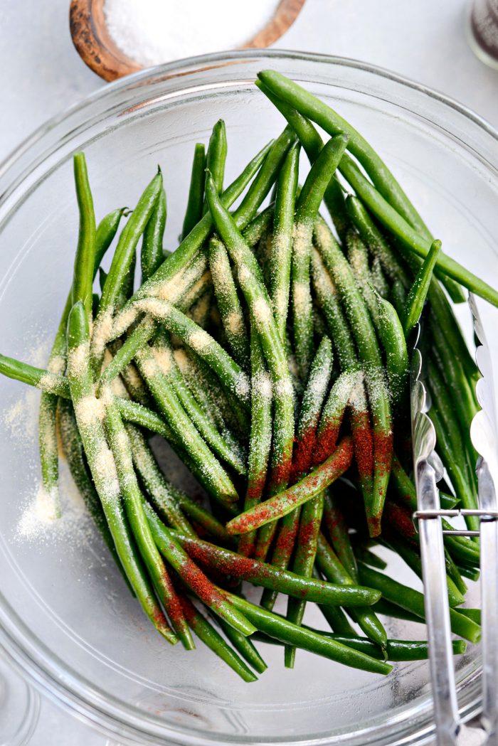 green beans seasoned