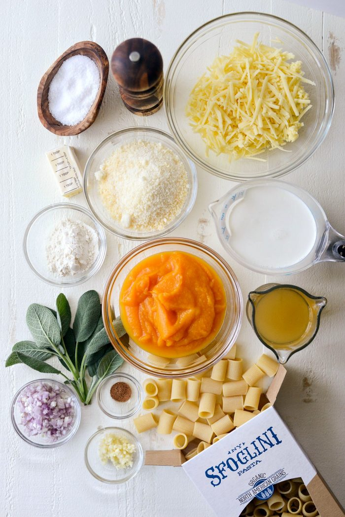 Cheesy Roasted Butternut Squash Rigatoni ingredients