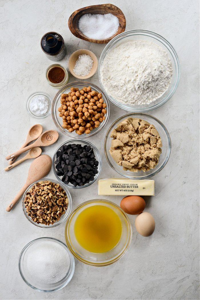 Salted Caramel Espresso Hazelnut Cookies ingredients