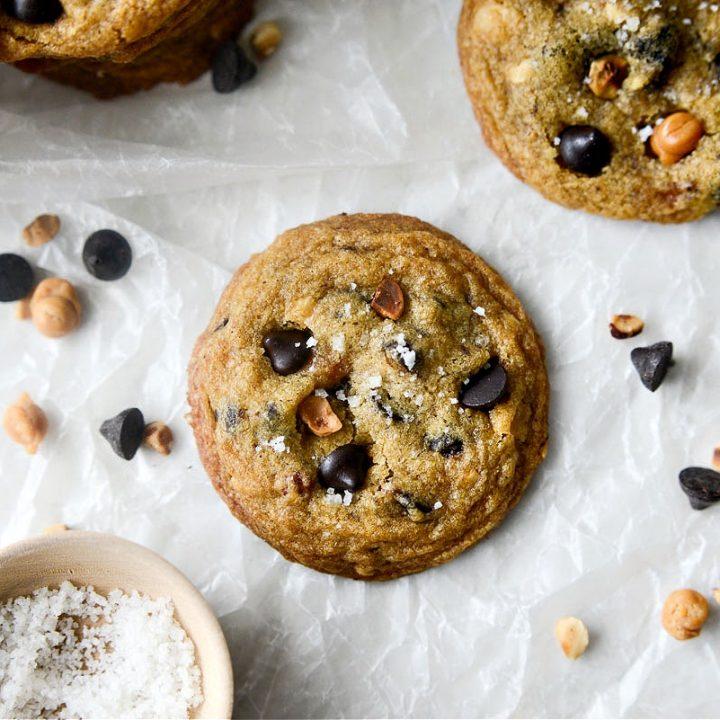 Salted Espresso Caramel Hazelnut Cookies