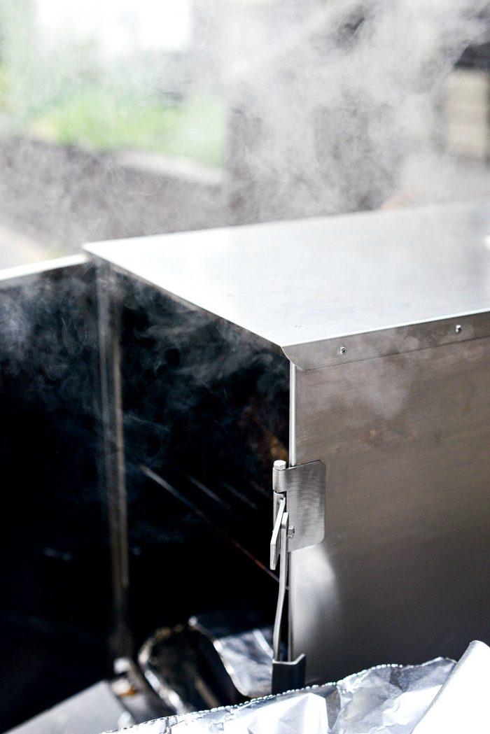 plume of smoke from smoker