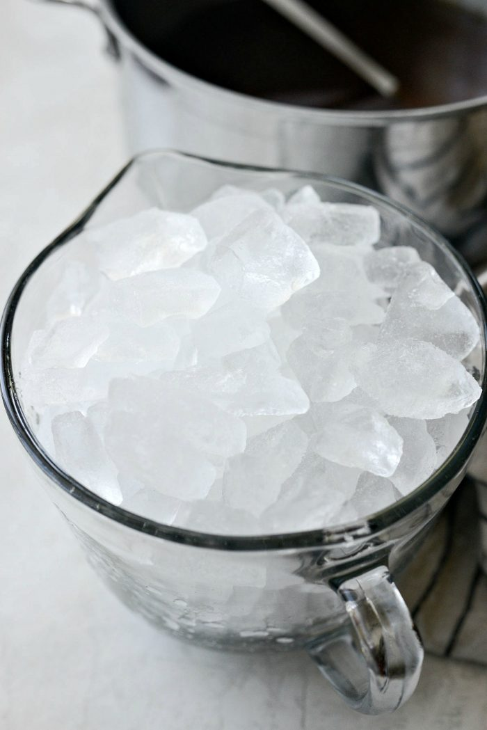 9 cups of ice