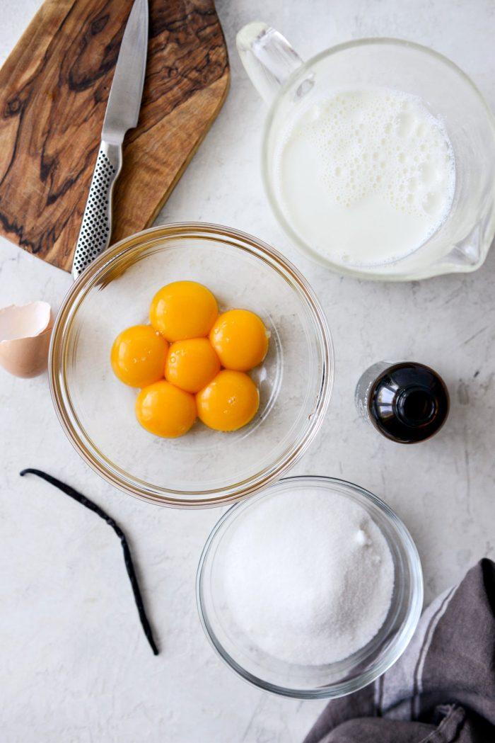 vanilla bean gelato ingredients.