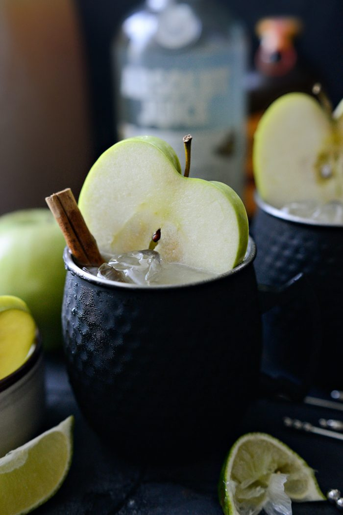 close up of apple cider Moscow Mule