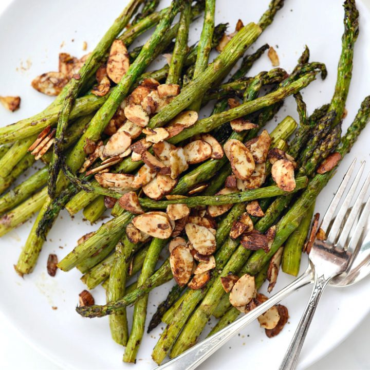 Air Fryer Balsamic Asparagus and Almonds