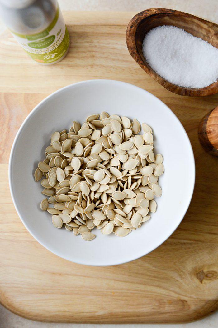 completely dry pumpkin seeds.