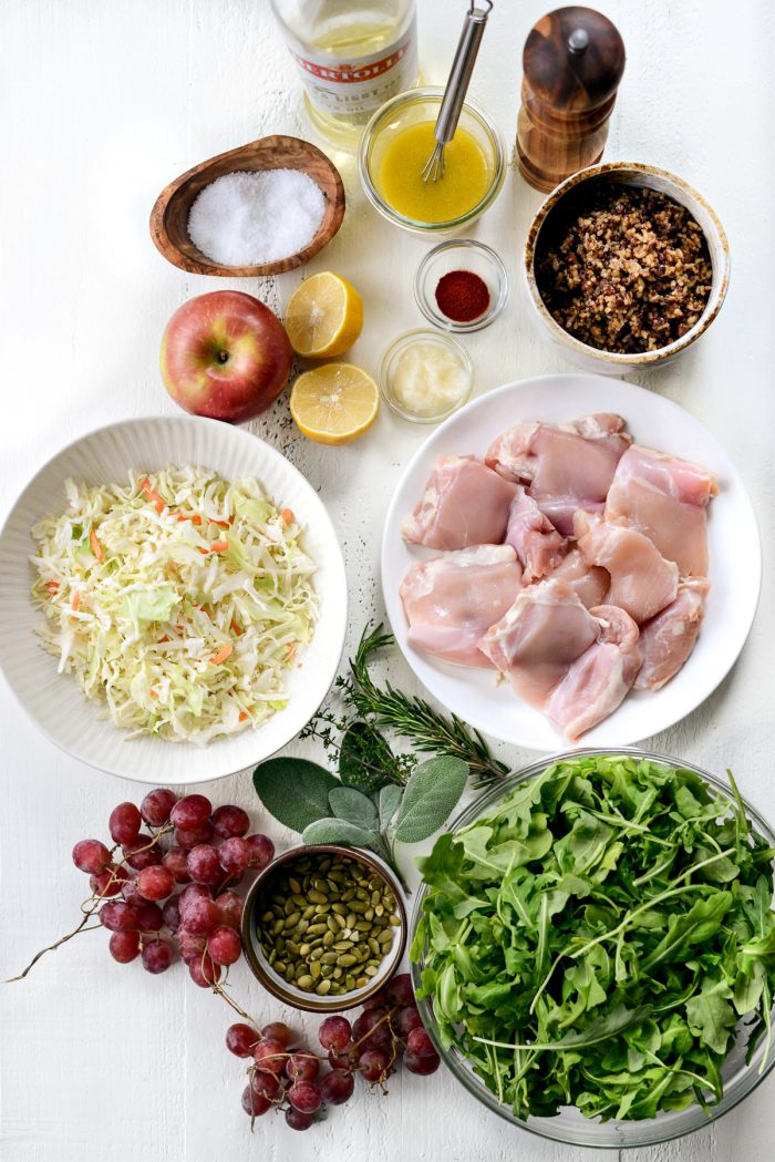 Ancient Grain Arugula Salad ingredients