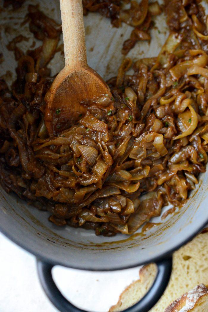 jammy caramelized onions.