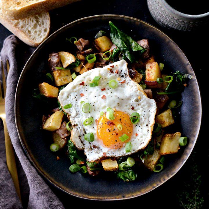 Leftover Prime Rib Breakfast Hash