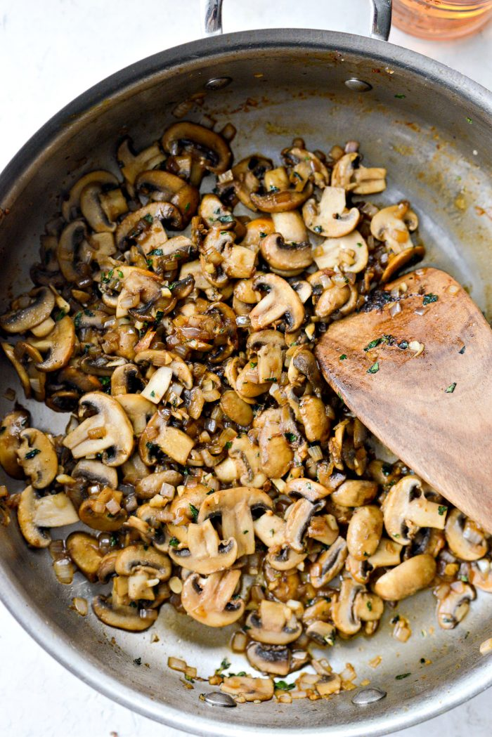 sauteed mushrooms, shallot and garlic with herbs.