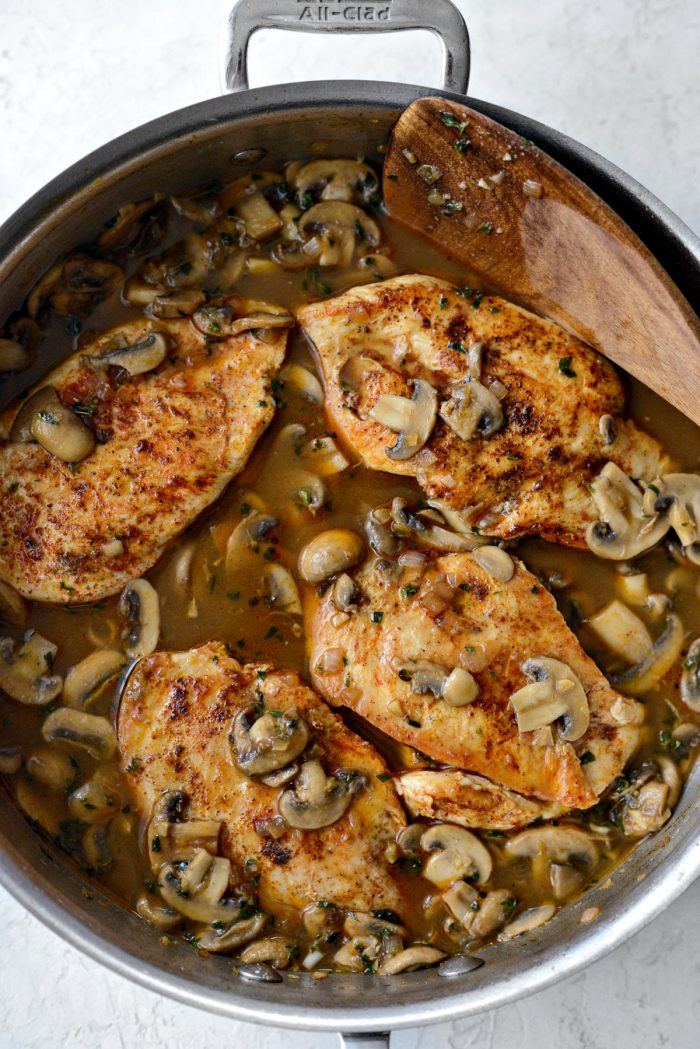 return chicken and smother with mushroom marsala sauce.
