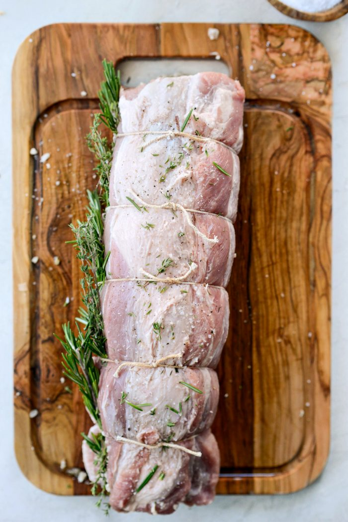 rolled and tied pork loin,