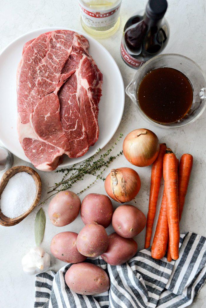 Classic Pot Roast Recipe ingredients