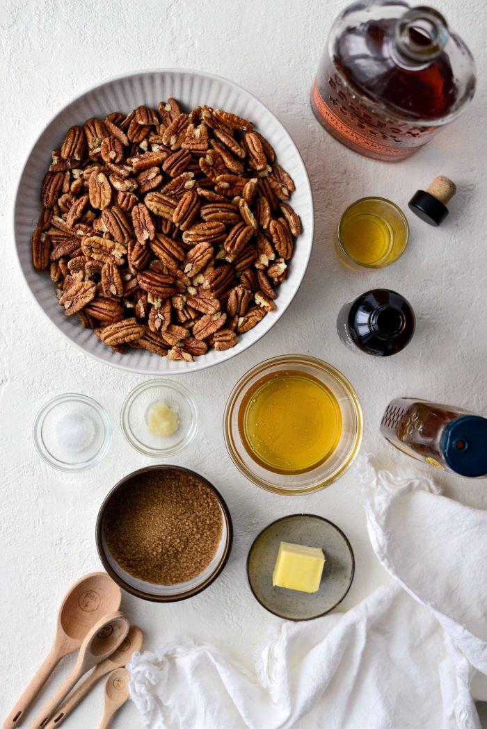 Honey Vanilla Bourbon Pecans ingredients