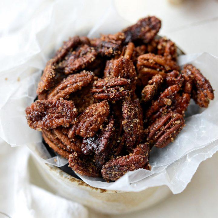 Honey Vanilla Bourbon Pecans