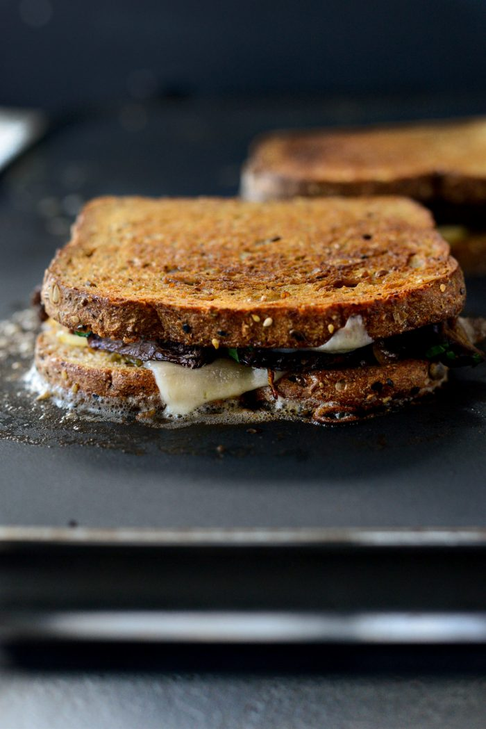 then flip the Leftover Pot Roast Cheddar Grilled Cheese Sandwich
