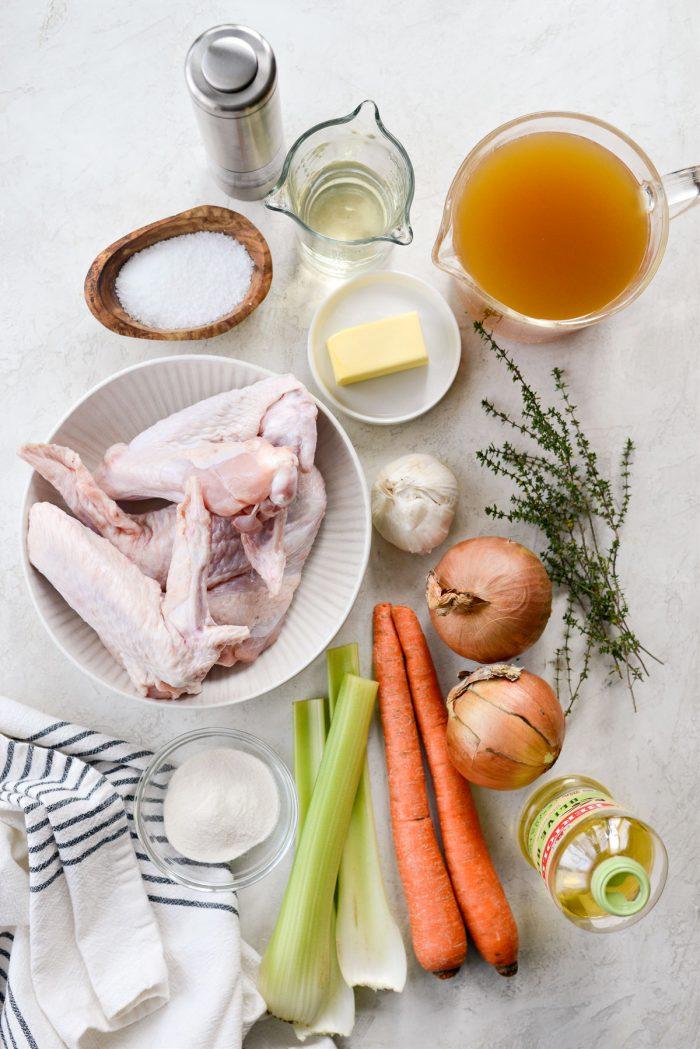 Make Ahead Turkey Gravy ingredients