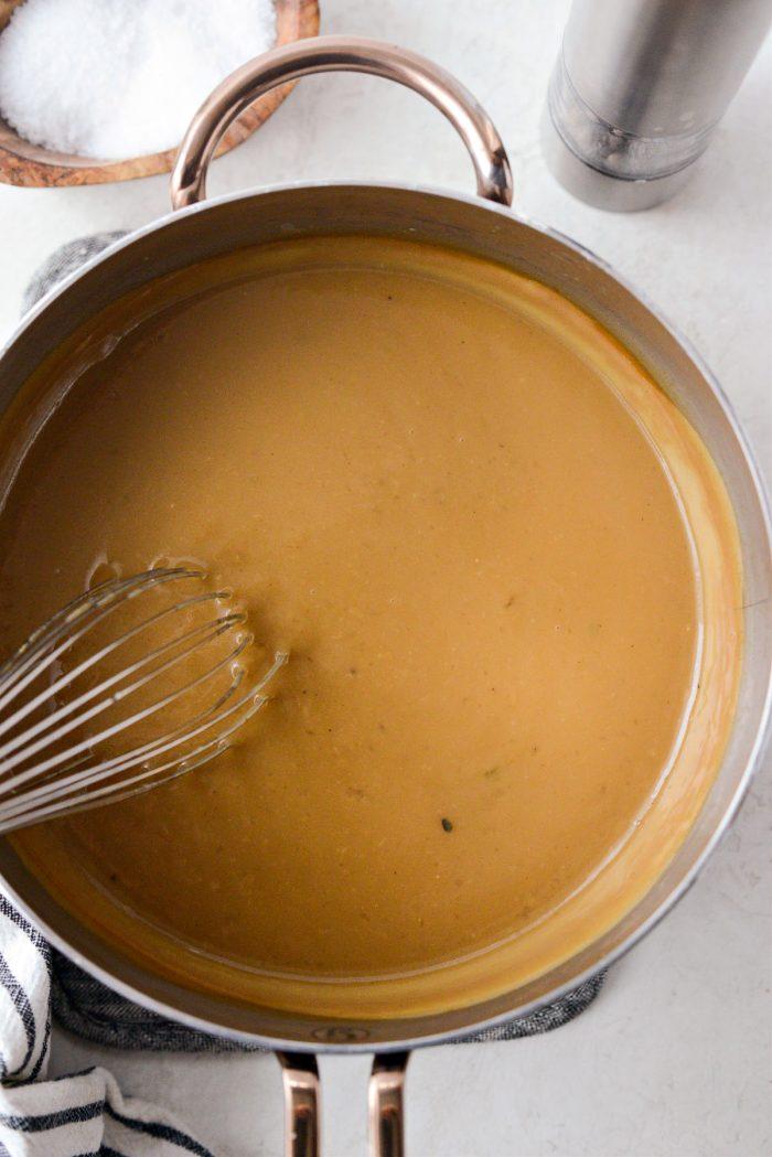 thickened gravy