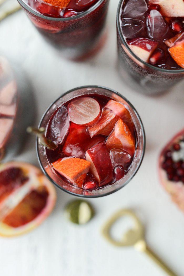 have drank glass of pomegranate sparkling apple cider sangria
