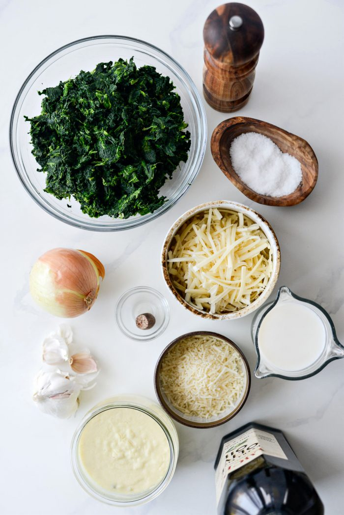 Spinach Gratin ingredients