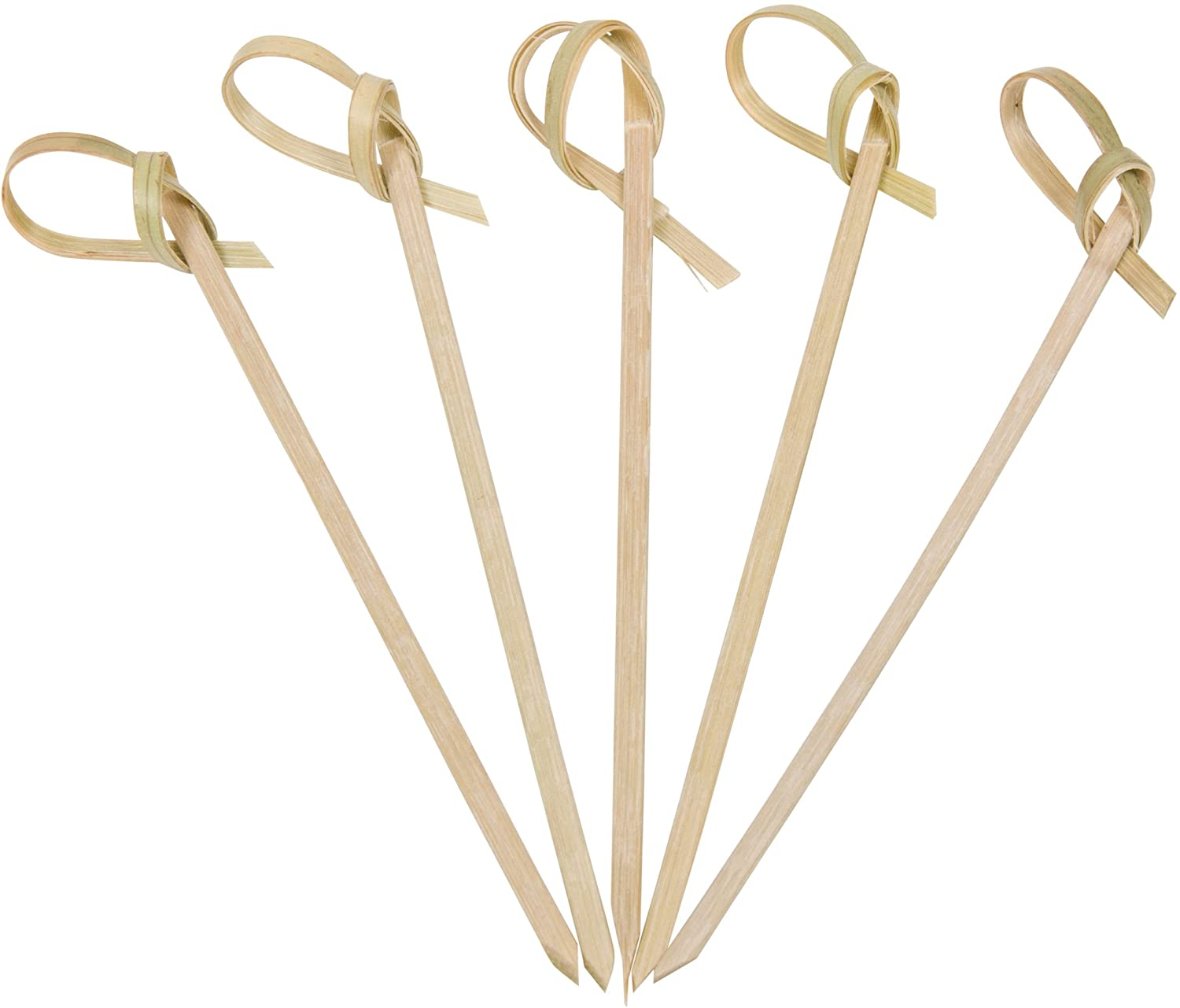 Bamboo Knot Picks by Aevia - Disposable Eco-Friendly Cocktail Skewers